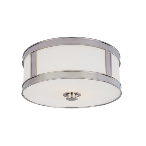 Hudson Valley Patterson 2-light Polished Nickel Flush Mount