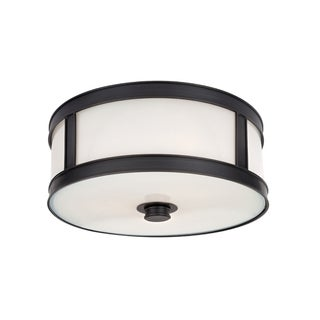 Hudson Valley Patterson 2-light Old Bronze Flush Mount