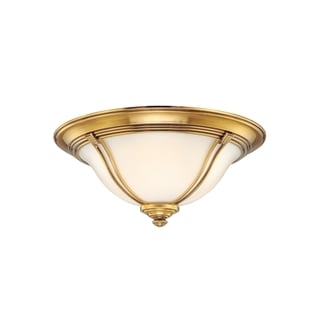 Hudson Valley Carrollton 2-light Flemish Brass Flush Mount