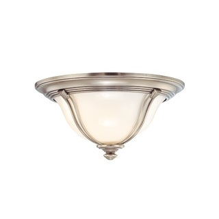 Hudson Valley Carrollton 2-light Antique Nickel Flush Mount
