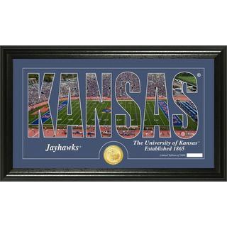 "University of Kansas ""Silhouette"" Bronze Coin Panoramic Photo Mint"