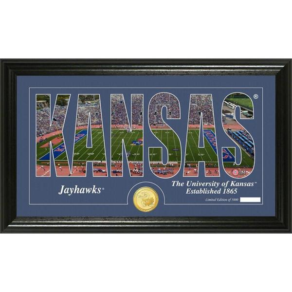 "University of Kansas ""Silhouette"" Bronze Coin Panoramic Photo Mint"