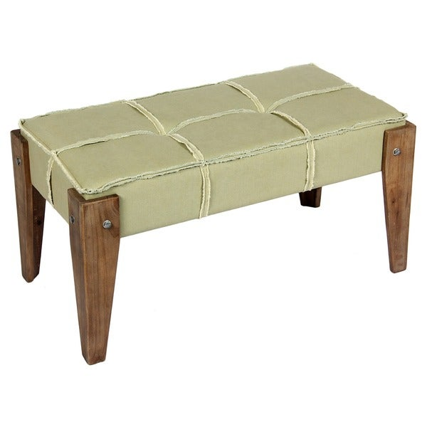 International Caravan Bradford Tufted Vanity Bench Vanity Bench For Sale E62