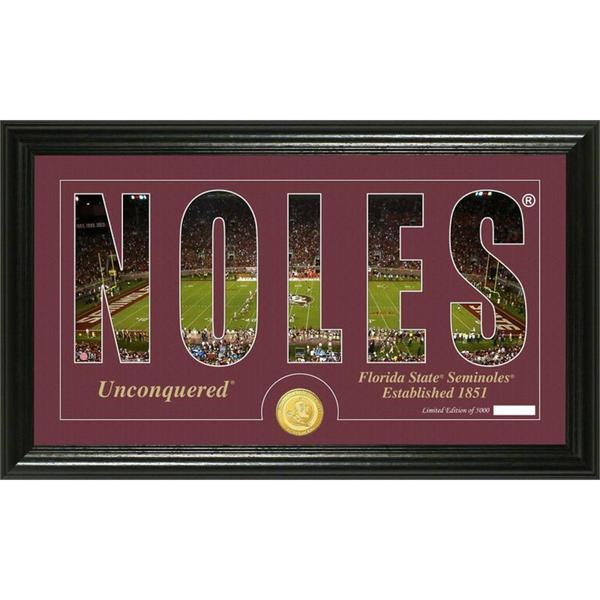 "Florida State University ""Word Art"" Bronze Coin Panoramic Photo Mint"