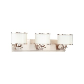 Hudson Valley Basking Ridge 3-light Satin Nickel Vanity