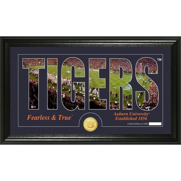 "Auburn University ""Word Art"" Bronze Coin Panoramic Photo Mint"
