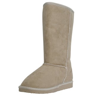 Dawgs Women's 13-inch Microfiber Boots (Option: Natural - 5)