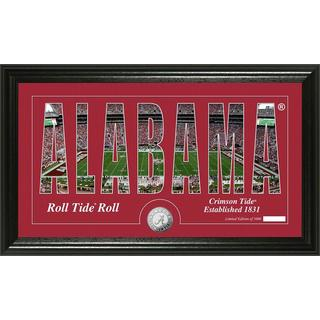 "University of Alabama ""Word Art"" Panoramic Minted Coin Photo Mint"