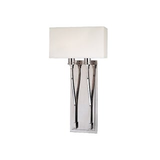 Hudson Valley Selkirk 2-light Polished Nickel Wall Sconce