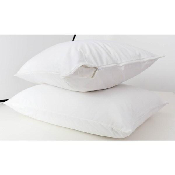 Somette Waterproof Zippered Hypoallergenic Pillow Protector (Set of 2)