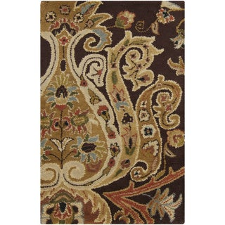 Hand-Tufted Wisbech Semi-Worsted New Zealand Wool Rug (2' x 3')