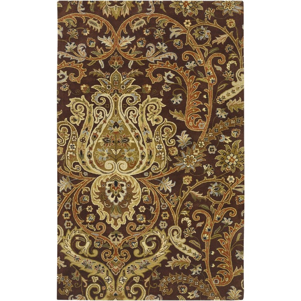 Hand-Tufted Wisbech Semi-Worsted New Zealand Wool Rug (5' x 8')