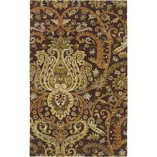 Hand-Tufted Wisbech Semi-Worsted New Zealand Wool Area Rug (5' x 8') - Thumbnail 0