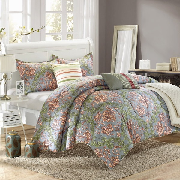 Chic Home Augustus 10-piece Luxury Bed-in-a-Bag Reversible Comforter Set