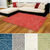 Rug Squared Monroe Abstract Rug (5' x 7'6) - 5' x 7'6