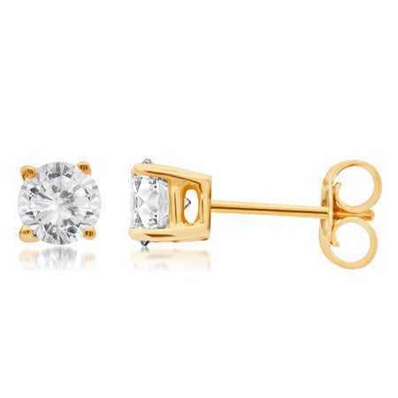 Shop Divina 14k Gold 1 4 to 1 1 2ct TDW Round Diamond Solitaire Stud  Earrings - On Sale - Free Shipping Today - Overstock - 10533830 641abc2460
