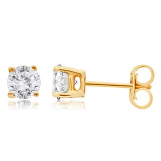 Divina 14k Gold 1/4 to 1 1/2ct TDW Round Diamond Solitaire Stud Earrings|https://ak1.ostkcdn.com/images/products/10533830/P17615867.jpg?impolicy=medium
