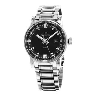 Chronoswiss Men's CH-2883-B-BK2 'GrandPacific' Black Dial Stainless Steel Bracelet Swiss Automatic Watch
