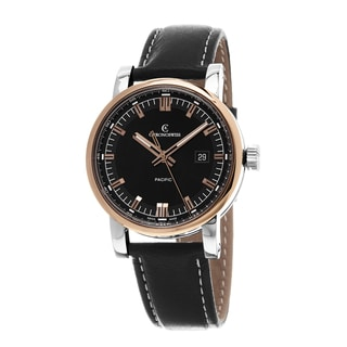 Chronoswiss Men's CH-2882-R-BK1 'Pacific' Black Dial Black Leather Strap Swiss Automatic Watch