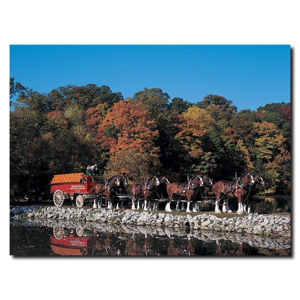 Budweiser 'Clydesdales in Fall' Canvas Wall Art