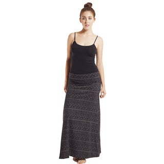 Aztec Sunrise Stripe Foldover Maxi Skirt