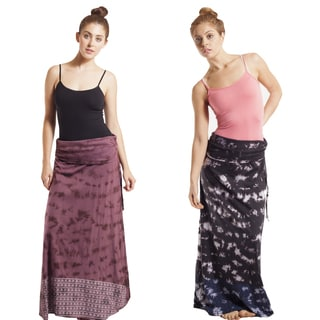 Tie-dye Aztec Sunrise Stripe Maxi Skirt