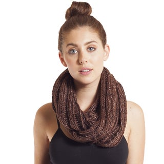 Hand Knit Soft Infinity Winter Scarf