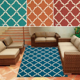 Rug Squared Maui Indoor Outdoor Trellis Accent Rug (2'3 x 3'9) - 2'3 x 3'9 (4 options available)