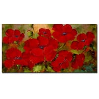 Rio 'Poppies' Canvas Wall Art - Multi