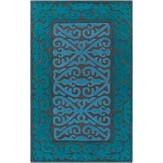 Hand-Woven Shildon Damask Wool Rug (5' x 7'6)