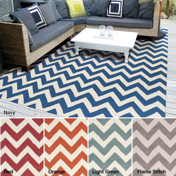 Rug Squared Maui Indoor Outdoor Stripe Rug (8' x 10'6) - 8' x 10'6