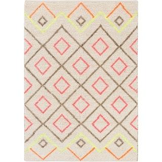 "Hand-Woven Shifnal Geometric Indoor Area Rug - 5' x 7'6"""