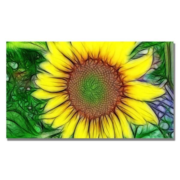 Kathie McCurdy 'Sunflower' Canvas Wall Art - Multi