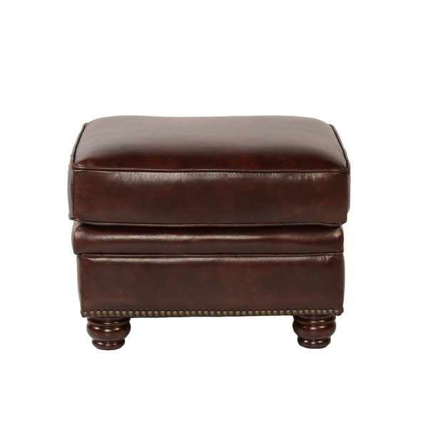 Shop Lazzaro Leather Appalachian Ottoman Free Shipping