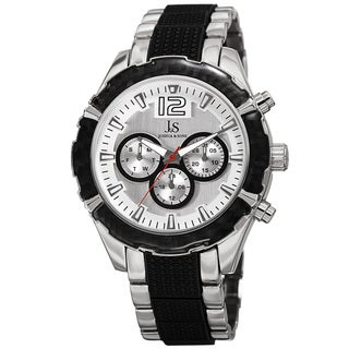 Joshua & Sons Men's Swiss Quartz Multifunction Dual-Time Two-Tone Bracelet Watch