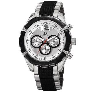 Joshua & Sons Men's Swiss Quartz Multifunction Dual-Time Two-Tone Bracelet Watch