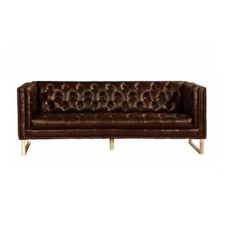 Lazzaro Leather Bordeaux Sofa