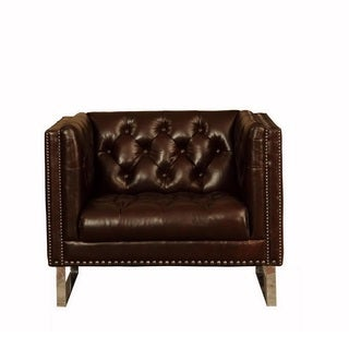 Lazzaro Leather Bordeaux Chair