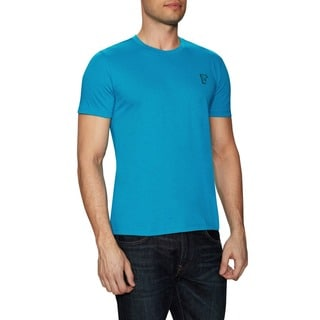 Versace Collection Men's Blue Crewneck Cotton Medusa Short Sleeve T-Shirt