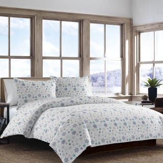 Eddie Bauer Tossed Snowflake Flannel Duvet Cover Set|https://ak1.ostkcdn.com/images/products/10534251/P17616104.jpg?impolicy=medium