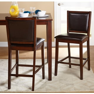 Simple Living 24-inch Anzio Dining Stool (Set of 2)
