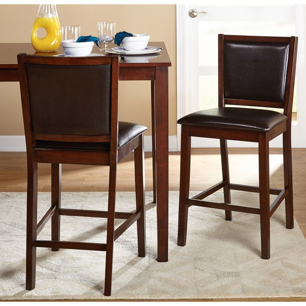 Simple Living 24 Inch Anzio Dining Stool Set Of 2 Free
