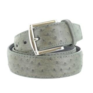 Faddism Men's Ostrich Embossed Genuine Leather Belt