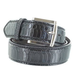 Faddism Men's Scale Embossed Genuine Leather Belt