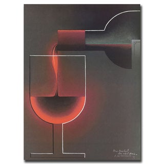 Vintage Art 'Red Wine' Canvas Wall Art
