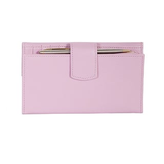 Scully Pink Leather Maxi Clutch