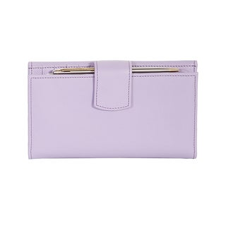 Scully Purple Iris Leather Maxi Clutch