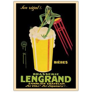 Vintage Art 'Bieres Brasserie Lengrand' Canvas Wall Art