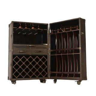 Lazzaro Leather Meomi Small Wine Cabinet