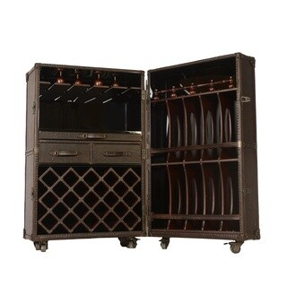 Lazzaro Leather Meomi Small Wine Cabinet
